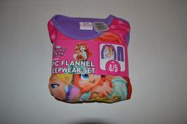 Disney Palace Pets  Girls Flannel Sleepwear Set Size 4-5 NWT - $13.49