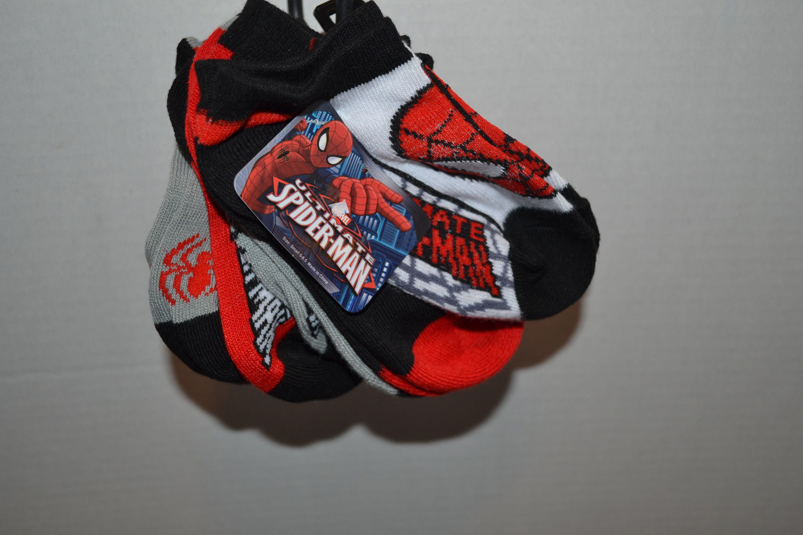 Marvel SpidemanToddler Boy  5 PK  Socks Shoe Size S 5-6.5 Nwt