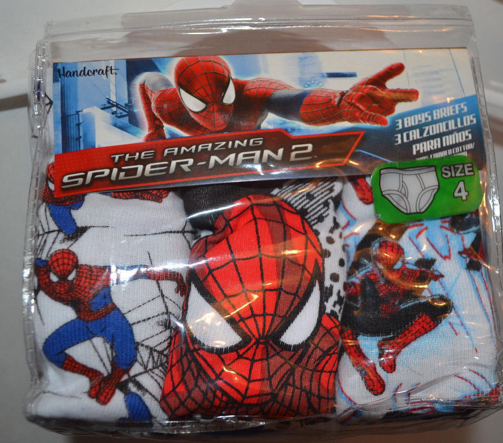 Primary image for Marvel Spiderman Boys  Briefs 3 Pack Sizes  4 or   8  NIP