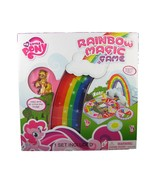 My Little Pony Rainbow Magic Game W/ Four Ponies Figures and Player Boar... - $12.74