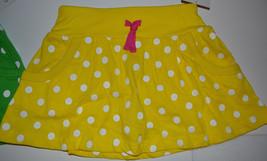 Carters  Playwear Girls Skorts Sizes 4 or 5 or 6 or 6X Nwt  Yellow Polka... - $12.99
