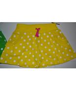 Carter's  Playwear Girls Skorts Sizes 4   NWT  Yellow Polka Dot - $10.39