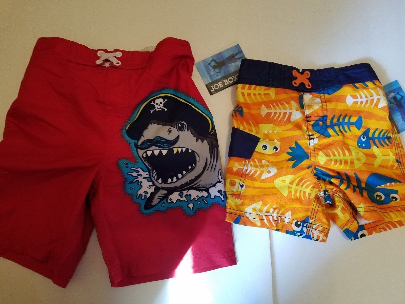 NEW Baby Boy/'s Swim Trunks NWT Size 6-9M Month Red White Blue Shorts Toddler