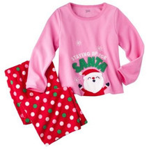 Carters Just One 2-piece Set Toddler  Girls Pajamas SIZE 2T  NWT Santa - $11.19