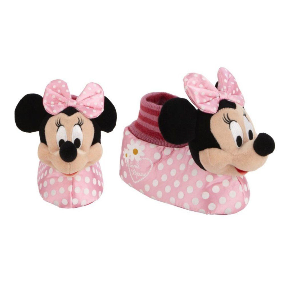 DIsney Minnie Mouse Slippers Size 11//12 Nwt Pink Polka Dot