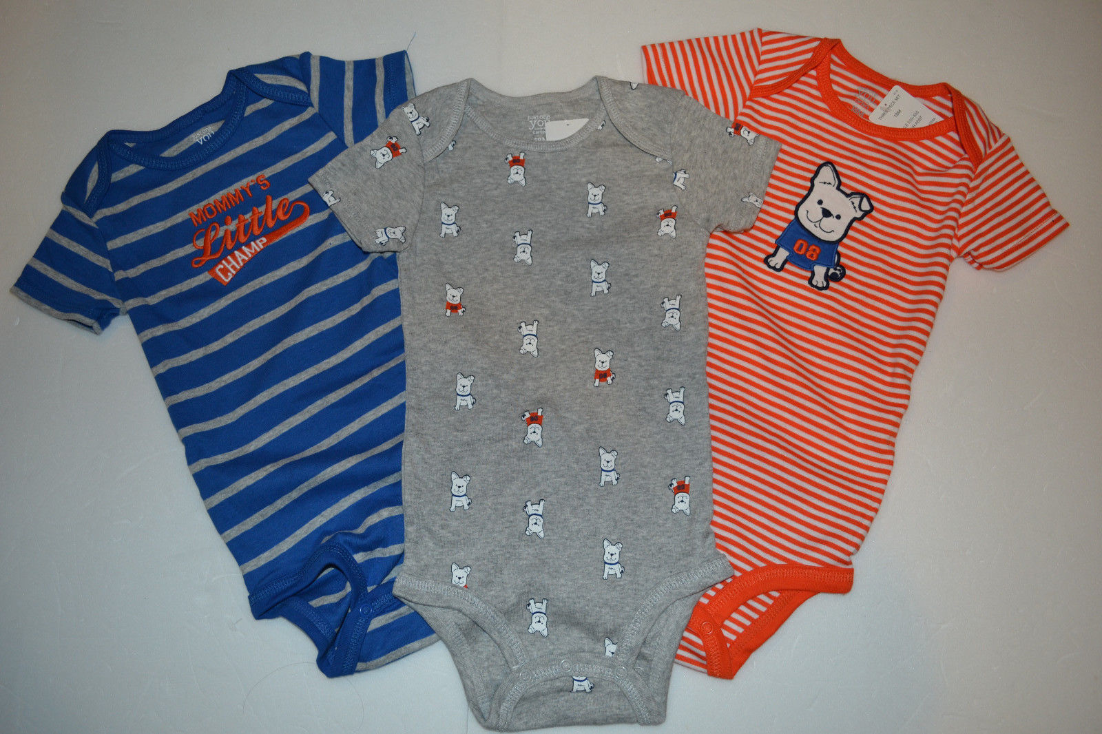 """Cloud Island NWT 4 Pack Body Suits /""""Tiny Wonder"""" Short Sleeves Size 3-6 months"""