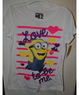 Universal Despicable Me 2 Girls Hybird  T-Shirt  Sizes  12/14 NWT Love t... - $8.39