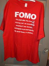 Gene  Mens  Short  SleeveT- Shirt  Size  XXL NWT FOMO The Fear of missin... - $10.19