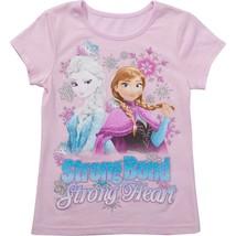 Disney  Frozen Strong Bond Strong Heart  Girls T-Shirt  Size 5 or 6   NWT Pink  - $11.69