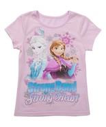 Disney  Frozen Strong Bond Strong Heart  Girls T-Shirt  Size 5 or 6   NW... - $10.39