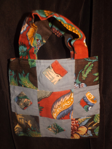 Grey Flower Purse/tote IN STOCK
