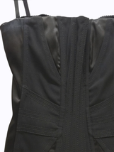 Dolce & Gabbana Women Black Satin Bustier Top Size 42 Made in Italy image 2