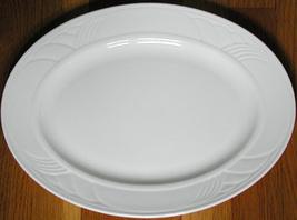 """Lovely LENOX CHINA SNOWDRIFT WHITE 13"""" Oval Serving Platter, Very Good C... - $24.99"""