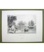 CANADA Indians Canoeing on St. Lawrence River -... - $17.82