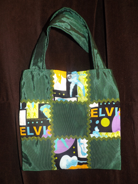 Green Elvis handbag/purse IN STOCK