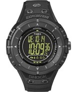 BRAND NEW TIMEX T49928 EXPEDITION DIGITAL COMPASS BLACK RUBBER MEN'S WATCH - £43.43 GBP