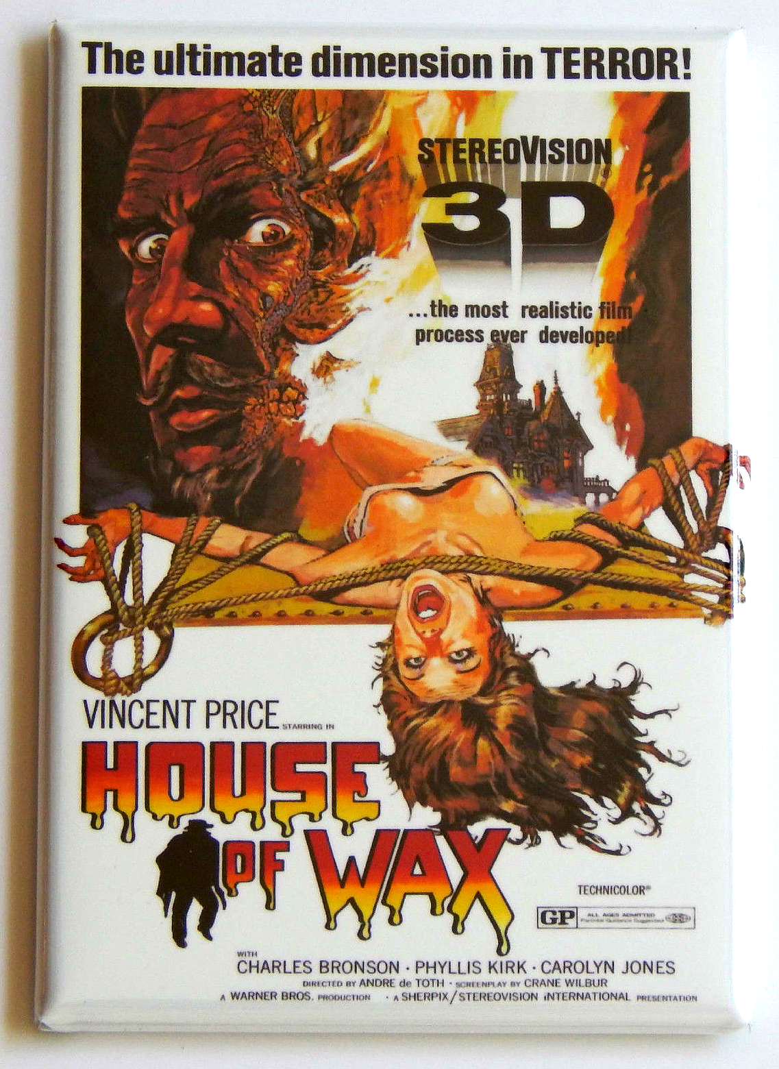 House of wax magnet