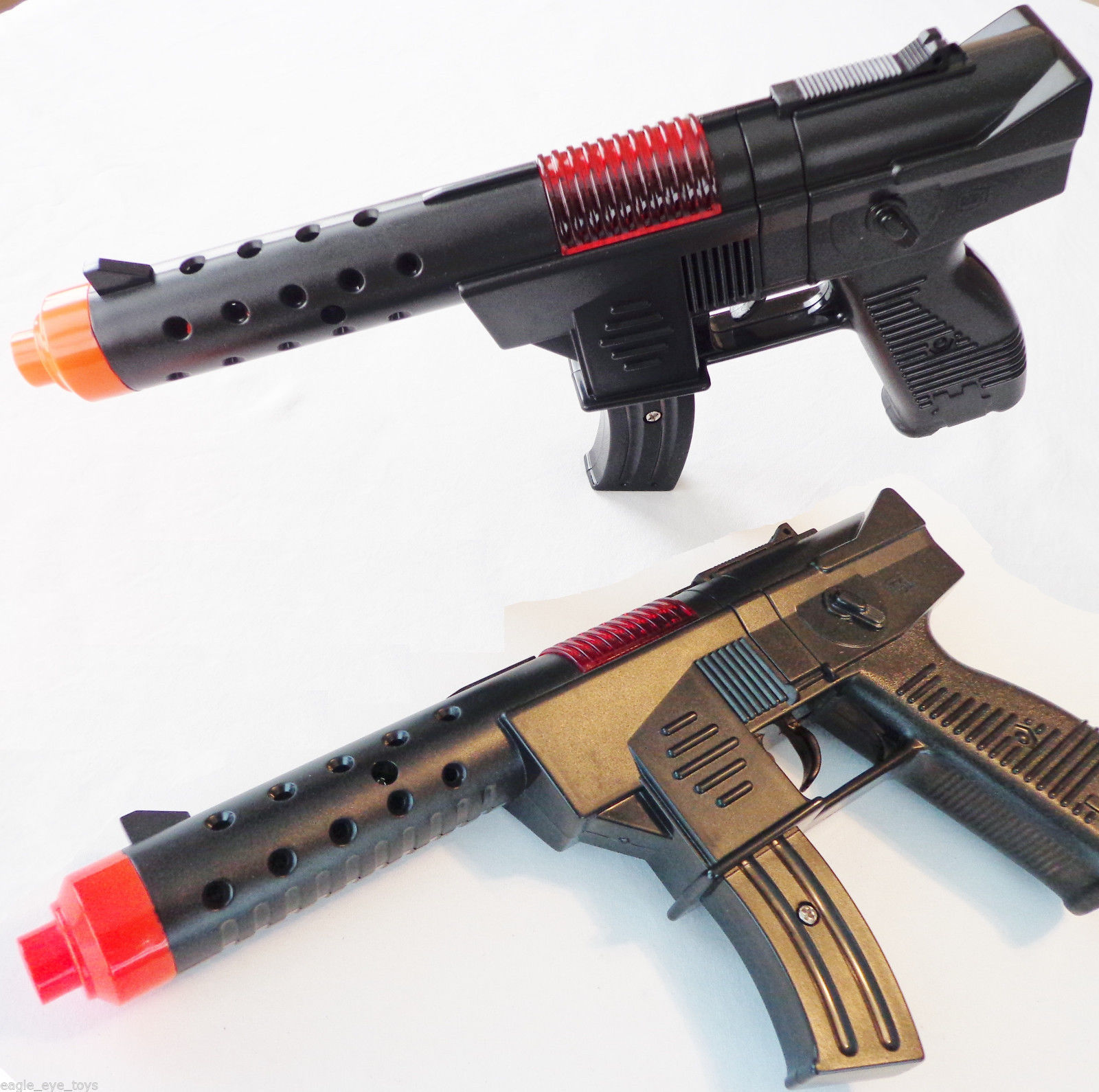 Electronic MP5 w Flashing Lights /& Sound FX 2X Toy Machine Guns M-16 Toy Rifle