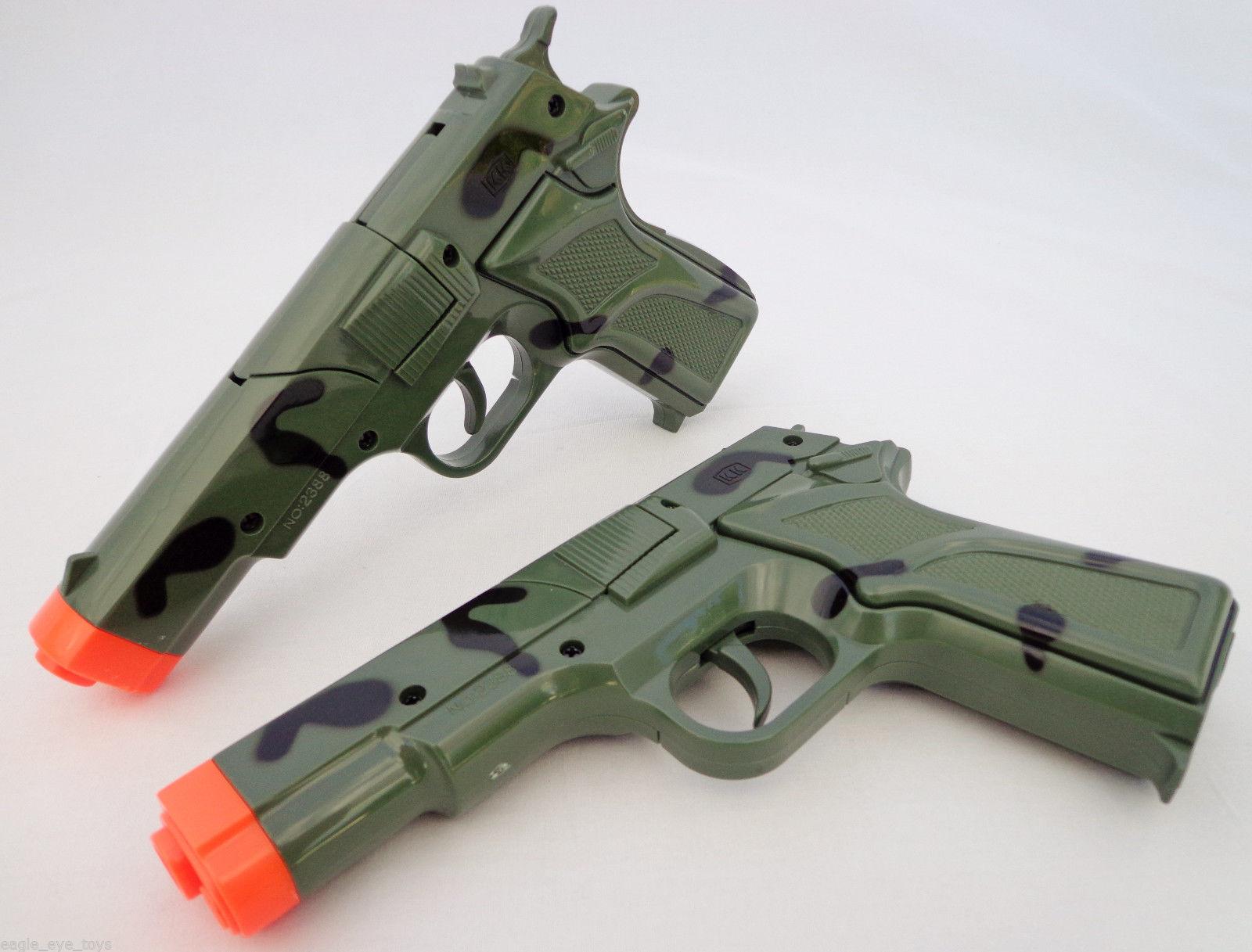 2x Toy Guns Military HUGE Elec MP5  w// Silencer /& Black Pistol 9MM Toy Gun Set