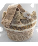 Purse Handbag Crocheted Eyeglass Case Cell Pouch Fully Lined - $49.75