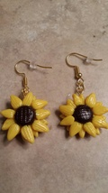 Summer Sunflower Wire Earrings - $6.00