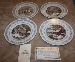 Roy Thomas Collection Currier and Ives Scenes 1978 Set of Four #W-478 - $17.04