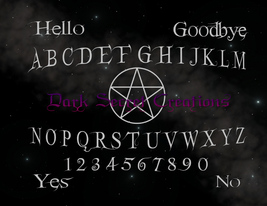 Grey Pentagram Night Sky Pendulum Board High Quality Archival Print - $10.00