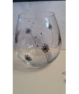 Dandelion Hand Painted Stemless Glass - $12.00