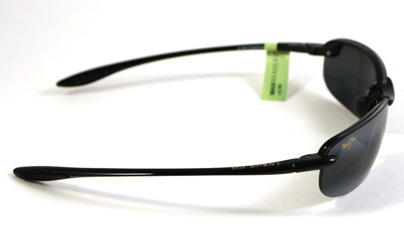 Maui Jim Makaha Reader G805-0220 Polarized Sunglasses +2.0 - Gloss Black/Grey