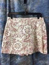 Dockers Women Skirt / Shorts Sz 6 Skorts Paisley Print Red, Brown, Tan - $21.13