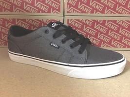 VANS Bishop (Herringbone) Charcoal/Black Men's Skate Shoes - $38.95