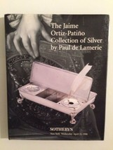 Sothebys Auction Catalog :Jaime Ortiz-Patino Collection Silver / HC - $19.80