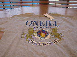 Boy's O'Neill  L 14/16  t shirt cinco heather especial TEE surf skate - $13.85