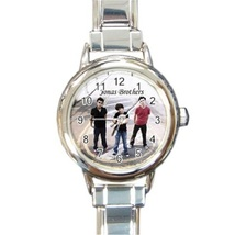 Ladies Round Italian Charm Bracelet Watch Jonas Brothers Gift model 1247... - $11.99