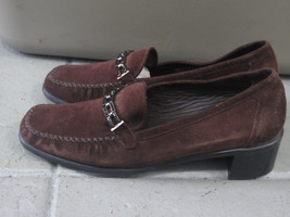 Stuart Weitzman Womens sz 9B Brown Suede Slip On Loafers Shoes Made in S... - $46.74