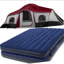 3-Room Camping Tent Set 20 ft x 10 ft  Sleeps 10 AirMattress - $455.95