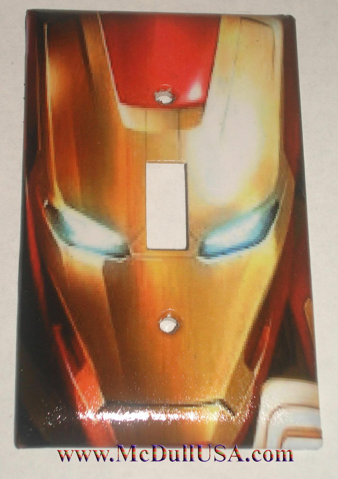 Iron man face single toggle