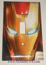 Iron Man comics Light Switch Duplex Outlet wall Cover Plate & more Home decor image 1