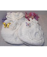Crocheted Fully Lined Drawstring Bags Handcraft... - $39.75