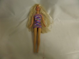 MATTEL BLOND BARBIE 1966 STRIPED DRESS - $27.84