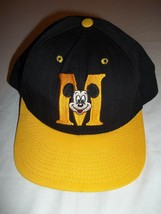 Vintage Walt Disney Mickey Mouse Adult Hat/Cap--Made in the USA-Yellow&Black - $10.99
