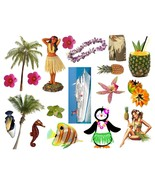 Rockabilly Guitar Cool Hawaiian Waterslide Decals #26 - $9.95