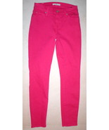 New Womens 7 For All Mankind Bright Paradise Pink Jeans 26 Designer Skin... - $112.00