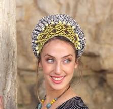 Fetching Autumn Headscarf TICHEL, Hair Snood, Chemo Snood, Yellow Head S... - $59.30