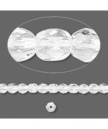 4mm Clear Crystal Faceted Round Fire Polished Czech Glass Beads 100 Prec... - $1.74