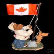 "Boyds Bearstone ""Lester B. & Buster Bear..Raising the Candian Flag"" #227792PO-1E - $39.99"