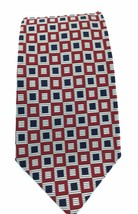 "Mark Pendleton Silk Necktie 59 x 4"" Red White Blue Boxes Patriotic Made ... - $27.93"