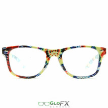 GloFX Diffraction Glasses – Tie Dye Hard Plastic Lens New Model Hard Plastic New - $19.99