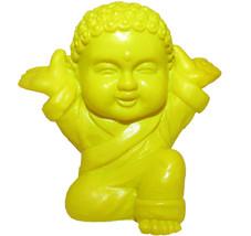 Pocket Buddha Yellow Joyful Buddhism Mini Figure Figurine Toy - $4.99