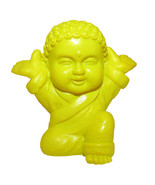 Pocket Buddha Yellow Joyful Buddhism Mini Figure Figurine Toy - $4.99